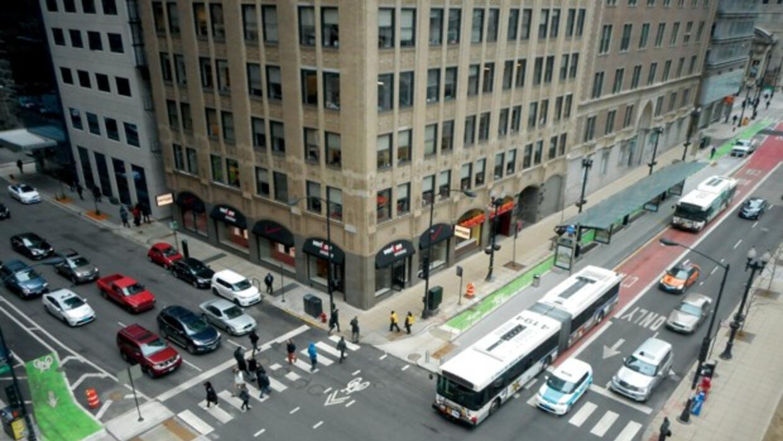 El proyecto de diseño del Loop Link en Chicago.