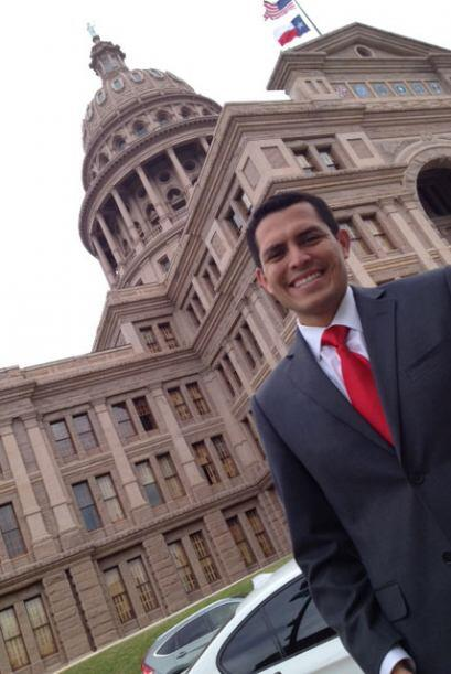 Pedro Rojas en Austin, juramentación de Sylvia García