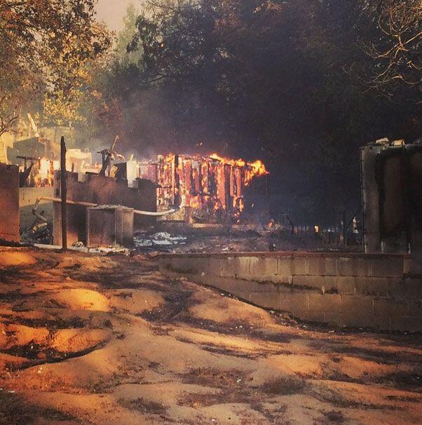 Entre la lista de los incendios reportados por @CalFire se encuentra la...