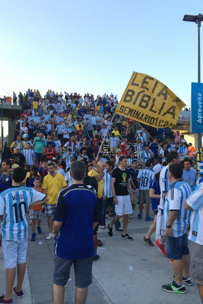 Así se vivió la emoción por el triunfo de Argentina.
