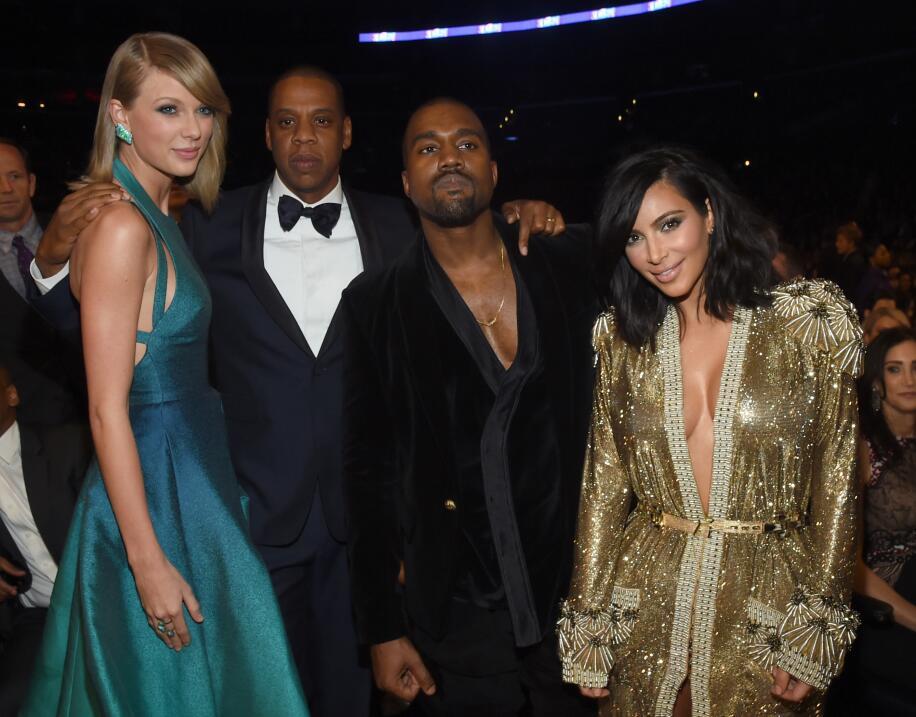 En fotos: las veces que Taylor Swift y Kanye West se dieron el beso de J...