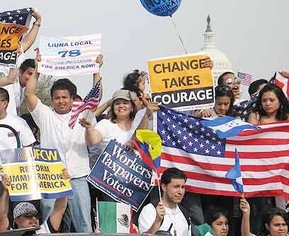 Una sola voz. La marcha nacional por la reforma migratoria del 21 de mar...