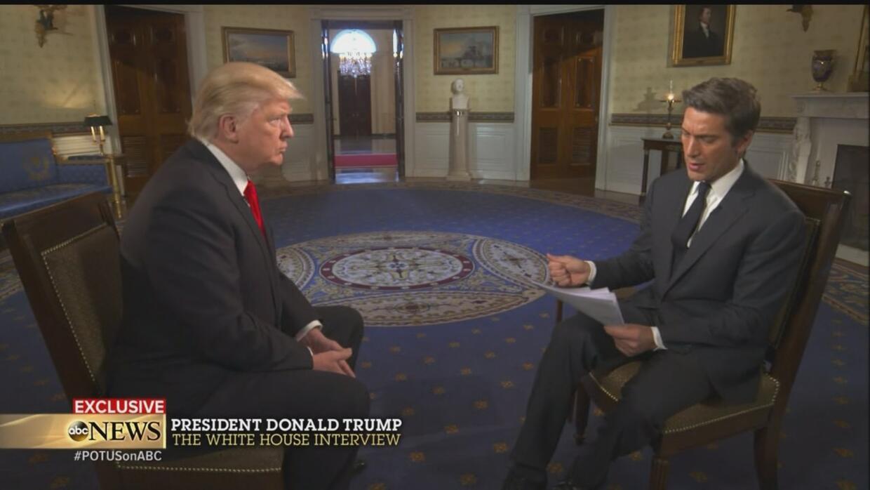 El miércoles 25 de enero ABC News emitió la entrevista de Donald Trump c...