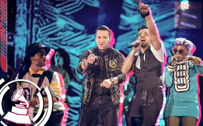Luis Fonsi, Bomba Estereo y Victor Manuelle en Latin GRAMMY 2017.