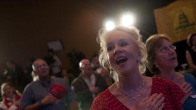 Los republicanos celebran la obtención de la mayoría en la sede del Part...