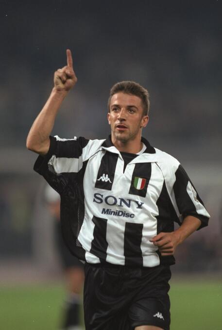 Temporada 1997/1998 - Alessandro Del Piero (Juventus F.C.) con 10 goles.