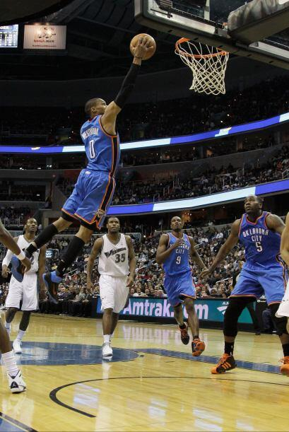 8. El joven Russel Westbrook de los Oklahoma City Thunder.