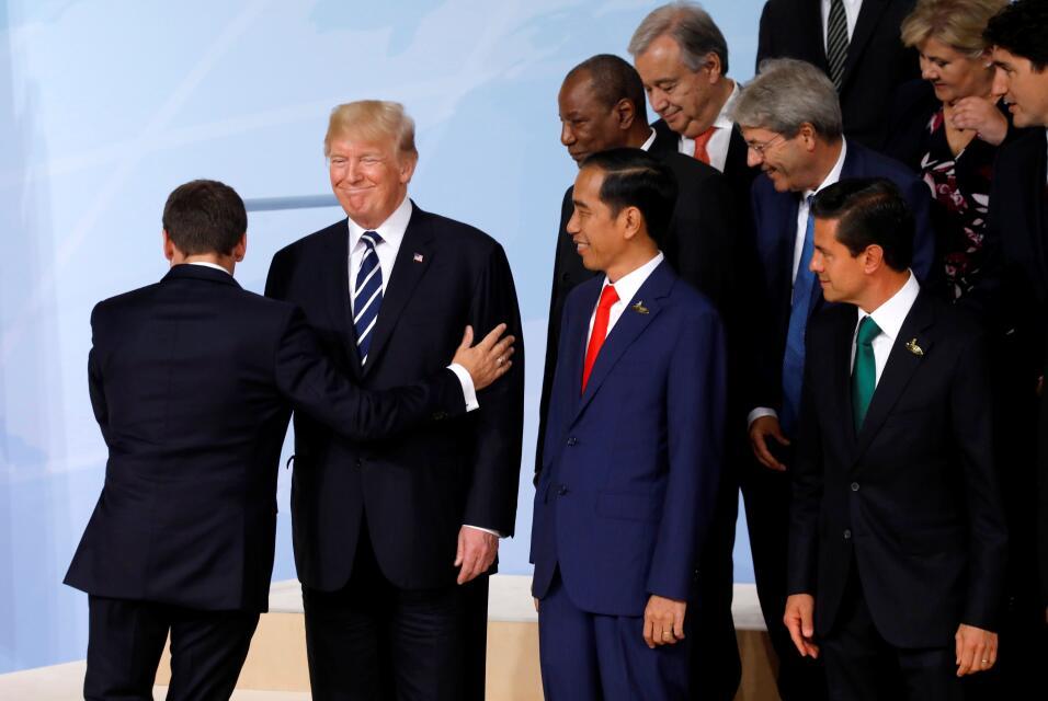 Reunion G20 trump macron