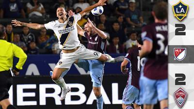 Sin gol número 500 para 'Ibra' y sin victoria en casa, LA Galaxy se resignó a empatar 2-2 ante Colorado