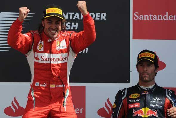 El español Fernando Alonso (Ferrari) ganó la novena prueba...