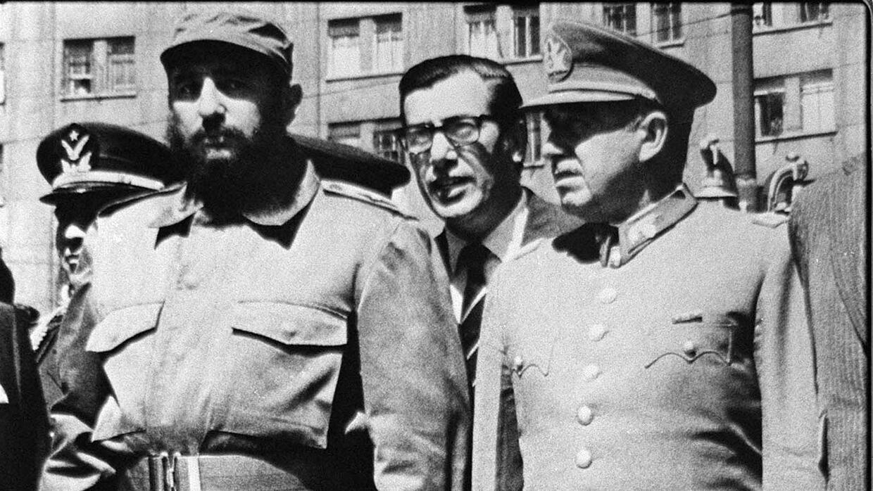 Fidel con Augusto Pinochet