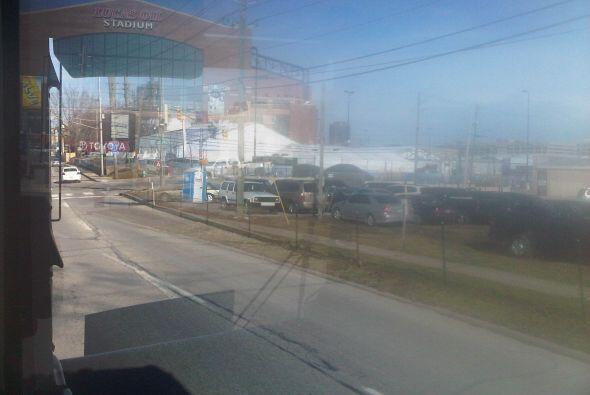 ¡Así luce el Lucas Oil Stadium desde el camión de prensa!