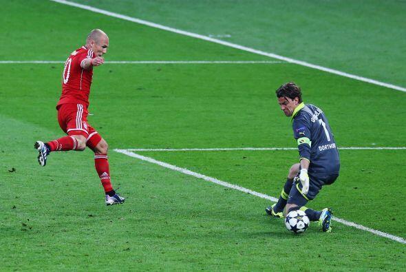 Robben esta vez la cruzó con clase para burlar a Wendenfeller.
