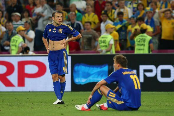 El partido terminó con triunfo de los ingleses y los ucranianos p...