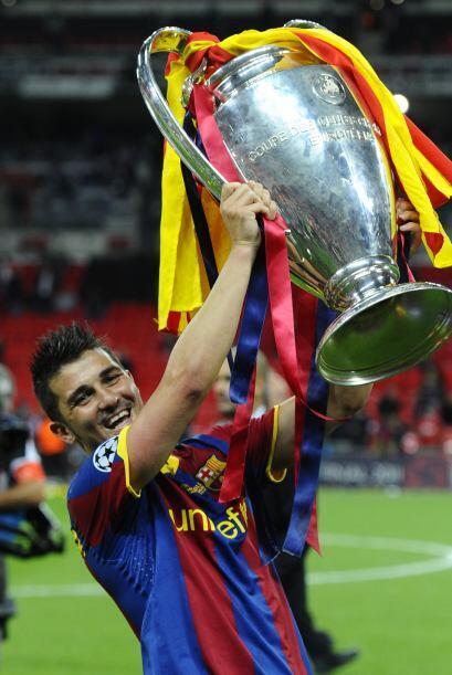 DAVID VILLA | El asturiano fue campeón de la Champions en 2010-11 con el...
