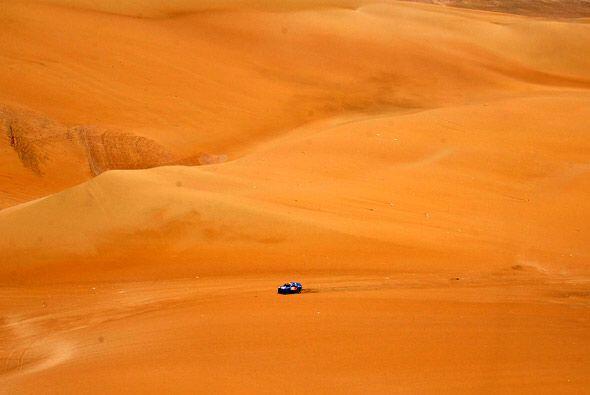 Las dunas del desierto ofrecieron paisajes espectaculares como este.