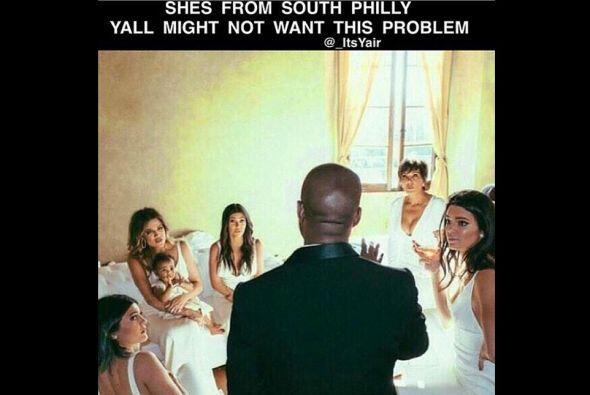 Compartió esta imagen en la que Kanye supuestamente advierte a las Karda...