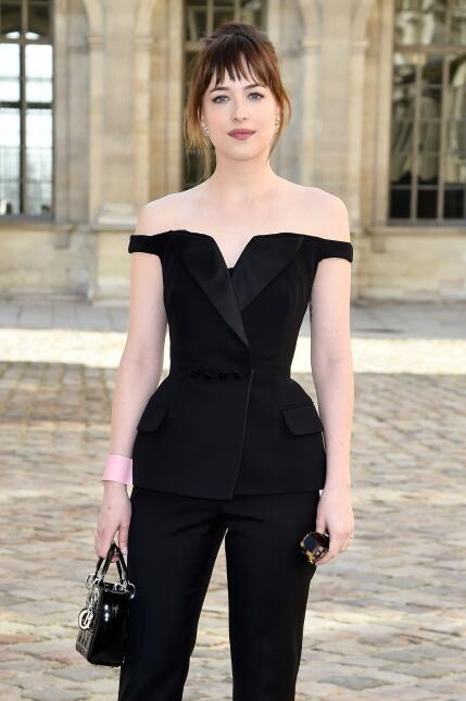 Actress Dakota Johnson attends the Christian Dior show as part of the Pa...