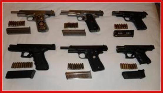 En EU fueron arrestadas tres personas, después de que una de las armas u...