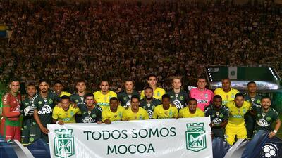 Chapecoense y Atlético Nacional vivieron un emotivo encuentro