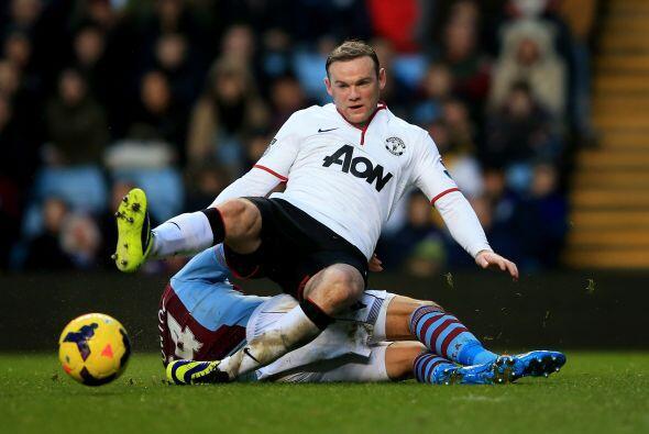 Wayne Rooney no pudo hacerse presente en el marcador.
