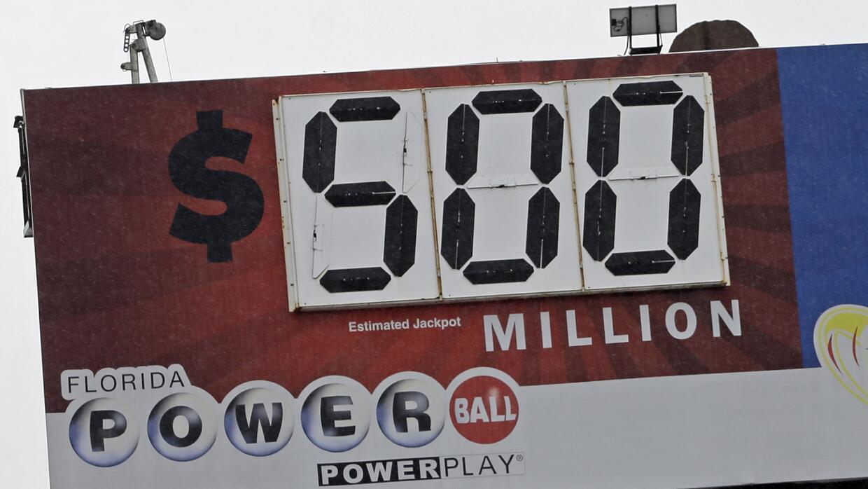 La bolsa de Powerball alcanzó los 500 millones