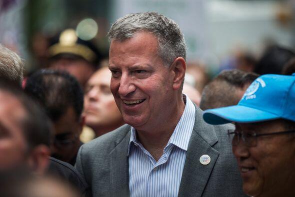 El alcalde de la ciudad, Bill de Blasio, también hizo acto de presencia.