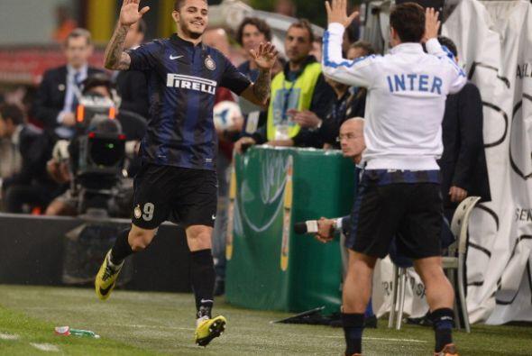 Todos los goles del Inter fueron celebrados con Zanetti, incluso antes d...