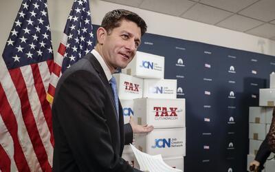 El presidente de la Cámara de Representantes, Paul Ryan, el 16 de...