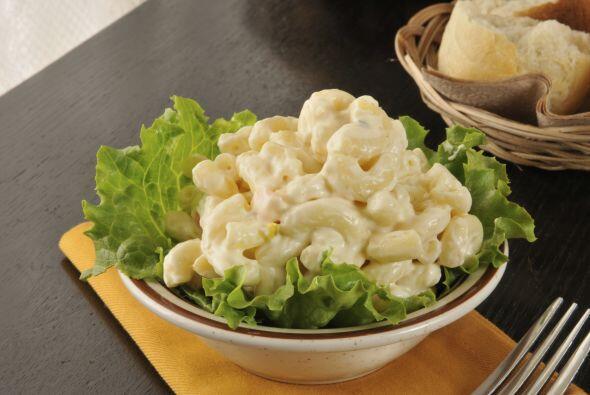 3. Macarrones: Las ensaladas con esta pasta, al igual que las que llevan...