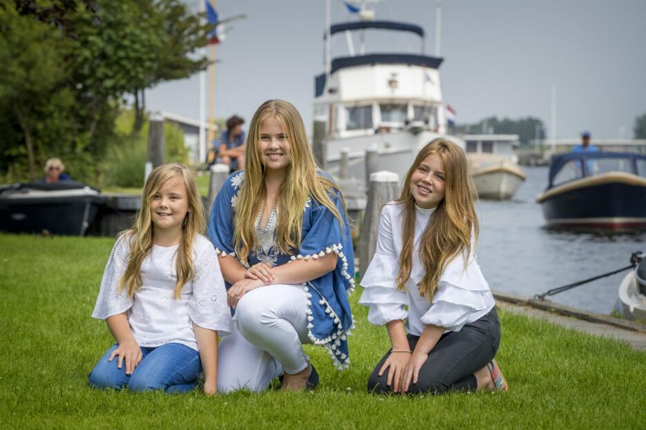 Princesa Catharina-Amalia de Países Bajos y sus hermanas