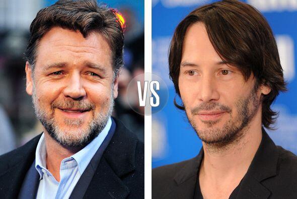 Russell Crowe y Keanu Reeves parece que se llevan varios años, pero no,...