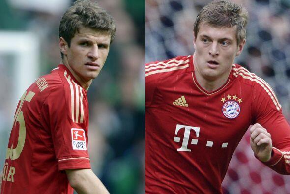 Thomas Müller o Toni Kroos son las opciones para aparecer en el campo co...