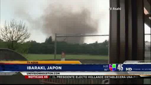 Captado en video: Tornado azotó Japón