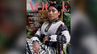 Yalitza Aparicio, la actriz indígena de Roma, aparece en la portada de Vogue México
