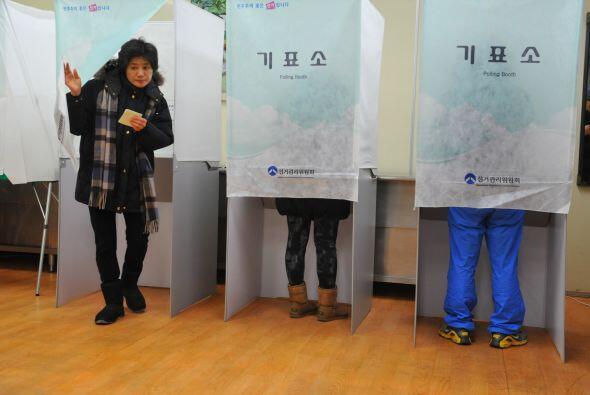 Los primeros sondeos de las elecciones presidenciales realizadas en Core...