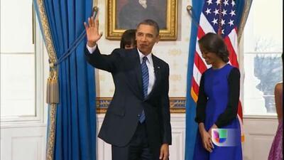 Barack Obama tomó posesión