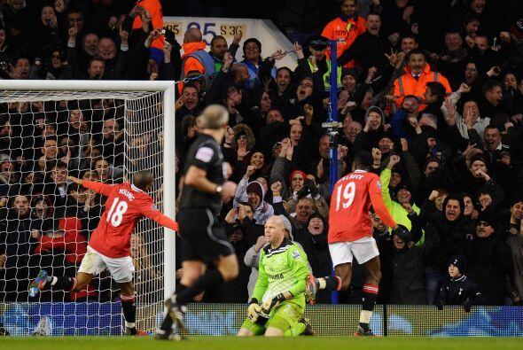 El jugador del United consiguió el segundo gol para su equipo.