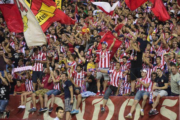 La asistencia fue solo de un 78% de la capacidad total de los estadios,...