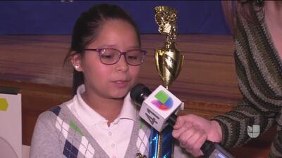 Conoce a la ganadora del concurso de deletreo en español del distrito escolar de San Antonio