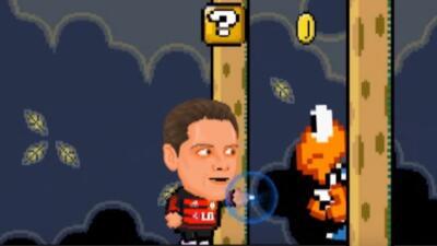 Javier Hernández en el videojuego de Mario Bros