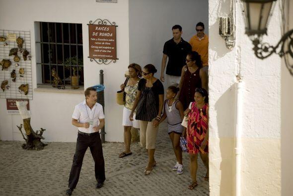 Michelle Obama, y algunos invitados, habrían volado desde Camp Andrews h...