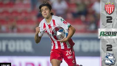 Necaxa y Puebla firman electrizante empate con golazos de Chumacero y Villalpando