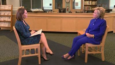 Entrevista completa y en exclusiva con la precandidata demócrata Hillary...