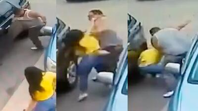 (Video) Golpea brutalmente a una mujer en pelea por estacionamiento