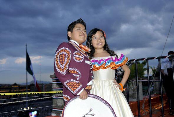 Los pequeños desearon un feliz 15 de septiembre a los mexicanos e...