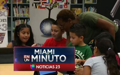 'Miami en un Minuto': los niños comienzan un nuevo curso escolar con var...