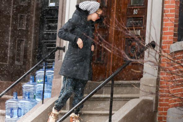 ¡Debe ser increíble que Katniss Everdeen te dé un tour entre la nieve!