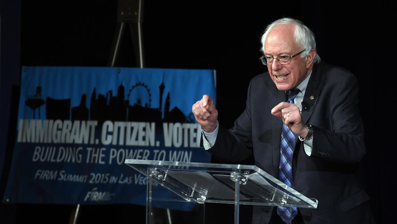 Bernie Sanders durante un foro en Nevada en noviembre de 2015.