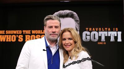 En fotos: John Travolta y Kelly Preston se pusieron muy cómodos en su visita a Despierta América